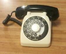 Vtg 1954-1975 AE-80 ROTARY TELEPHONE Automatic Electric Co Northlake IL~Blk Wht