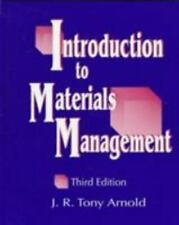 Introduction to Materials Management by J. Tony Arnold (1997, Hardcover)