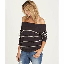 Billabong Women's Snuggle Down Off the Shoulder Pull Over Sweater