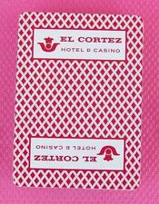 El Cortez Hotel and Casino Red Diamond Deck of Playing Cards Poker Size
