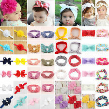 Kid Girls Baby Headband Toddler Lace Bow Flower Infant Hair Band Accessories Lot