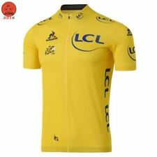 2017 Tour France LCL Le Coq Yellow Cycling Jersey Maillot Ciclismo