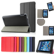 For Amazon 2016 Kindle Fire HD8 Folding PU Leather Cover Smart Case Sturdy