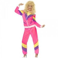 Womens 1980s Pink Shell Costume Suit Fancy Dress 80s Adult Chav Ladies Outfit
