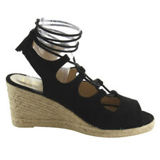 Women's Lace Up Strappy Espadrille Platfor Wedge Sandals
