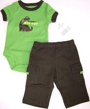 Carter's Baby Boy's 2 Piece Bodysuit and Pants Set NWT Nborn 3M or 6M  Grandpa's