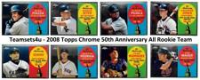 2008 Topps Chrome 50th Anniversary All Rookie Team Baseball Set * Pick Your Team