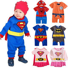 Baby Boys Girls Super Hero Costume Romper Outfits Party Fancy Dressy One-piece