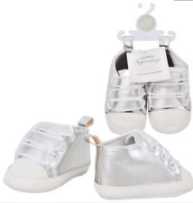 NWT Little Beginnings Silver Baby Booties