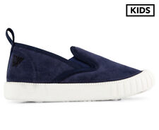 Walnut Melbourne Kids' Charlie Cruise Shoe - Microsuede Navy