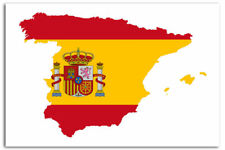 Spainish Flag Maps Of The World Art Print Posters A1 60 x 90 CM 06780