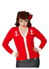 NEW 1950s 50s Vintage Retro Rockabilly Nautical Cardigan -Miss Fortune Cardigan