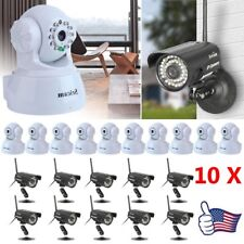 LOT 10 HD Network Wifi IP Security Camera Wireless Outdoor Night Vision Cam EK