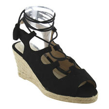 Women's Shoes-Lace Up Strappy Espadrille Platfor Wedge Sandals