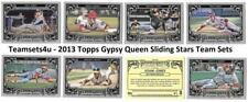 2013 Topps Gypsy Queen Sliding Stars Baseball Set ** Pick Your Team **