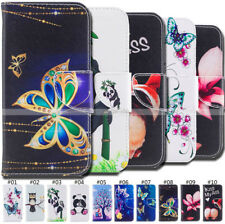 Luxury Magnetic PU Leather Pattern Stand Wallet Flip Cover Phone Case For Apple