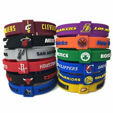 Silicon Bracelet Basketball Teams LAKERS CLEVELAND ROCKETS Adjustable Wristband