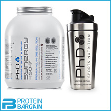 2kg PhD Nutrition Synergy ISO 7 All in One Protein + PhD Stainless Steel Shaker