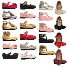 Baby Girls Wedding Bridesmaid Party Shoes Size 12-18 18-24 Months ON SALE