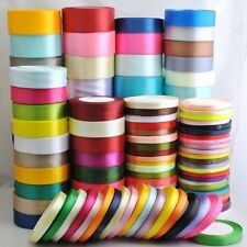NEW DIY 25Yard Satin Bow Embellishment Party Craft Ribbon 10mm 15mm 20mm 25mm