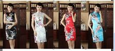 white black Red Lack blue Chinese Style  women's evening Dress/Cheong-sam sz:S-2