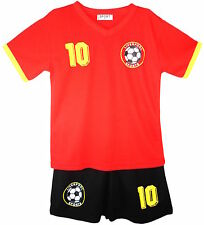 Football Summer Shorts Boys New Girls Top Vest Kit Set Size Age 3-13 Years Bnwt
