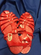Vintage Original Jelly Sandals Jelly Shoes 'SarraiZienne' French Red Size 4