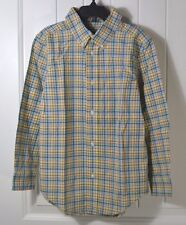 NEW BOYS POLO RALPH LAUREN PLAID LONG SLEEVE BUTTON UP DOWN SHIRT SZ 6
