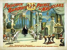 FREDERICK BANCROFT Magician New Giclee Art Print Poster 4x6-8.5x11 French Palace