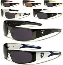 NEW SUNGLASSES BLACK BROWN MENS LADIES BOYS DESIGNER SPORTS SHIELD WRAP UV400
