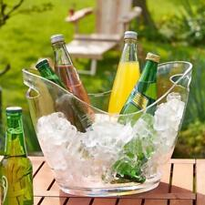 Clear Ice Bucket Champagne Drinks Beer Wine Cooler Bar Party Decor 4L/8L
