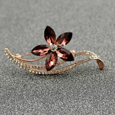 Brooches Wedding Pins For Women 3 Colors Flower Brooches Rhinestone Choose
