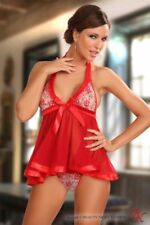 SEXY NEGLIGEE BABY DOLL WEDDING Erotic Underwear Lingerie S M L XL Red or White