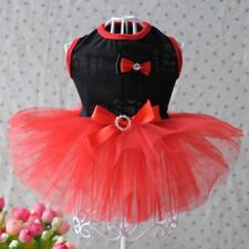Pet Dog Cat Lace Bowknot Princess Dress Tulle Tutu Skirt Puppy Costumes Apparel