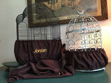 Handcrafted Brown Fabric Bird Cage Seed Catcher Skirt Guard or Cover XS-XXL