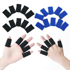 10Pcs Finger Bands Brace Support Sleeve Gym Sports Volleyball Basketball 2 Color