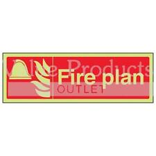 VSafety Glow In The Dark Photoluminescent Fire Plan Equipment Sign
