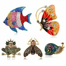 Vintage Animal Butterfly Fish Brooch Pin Broach Women Party Jewelry Shirt Collar