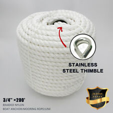 Twisted Three Strand Nylon Anchor Rope Boat with Thimble US STOCK
