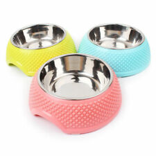 Stainless Steel Feeder Food Water Dish Feeder Pet Dog Bowl  single Bowls  H0504