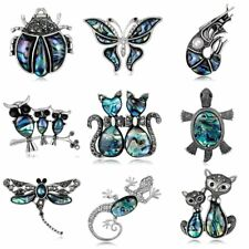 Vintage Women Party Jewelry Gift Crystal Animal Butterfly Cat Brooch Pin Broach