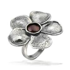 New SHABLOOL Ring Bordeaux Natural Garnet Jewelry 925 Sterling Silver