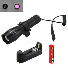 Zoomable IR 850nm Night Vision OSRAM Infrared LED Flashlight Rifle Light Mount Q