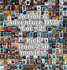 Action & Adventure DVD Lot #2: 250 Movies to Pick From! Buy Multiple And Save!