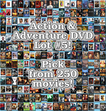 Action & Adventure DVD Lot #5: 250 Movies to Pick From! Buy Multiple And Save!