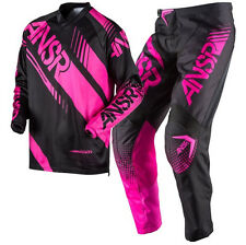 New ANSWER Racing 2017 A17 Womens Black Pink Motocross Jersey & Pants Outfit MX