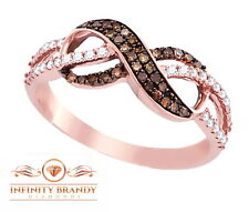 Infinity Brandy Diamonds® Chocolate Brown 14K Gold Forever Love Me Infinity Ring