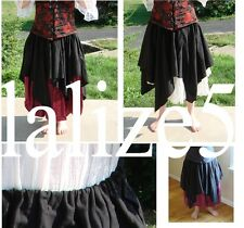 Renaissance Medieval Pirate Wench Top Petal OVER SKIRT or APRON by LaLize5