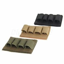 Tactical Hunting 4 Round Shotgun Shell 12GA Gauge Ammo Carrier Pouch Holder