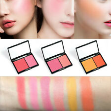Natural Matte Blush Palette Kit Face Contour Makeup Blusher Powder 2 Colors